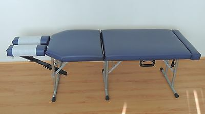 Portable Chiropractic Table; Blue - in Very Good Condition!