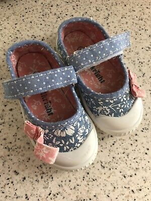 Blue And Peach Summer Pumps Infant Size 4