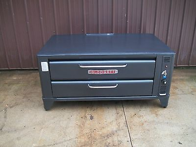 Blodgett 961 Natural Deck Gas Double Pizza Oven With Brand New Stones