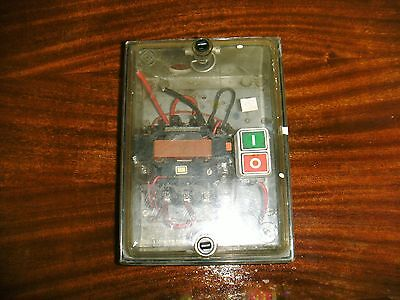 Large Contactor Push Button Start Stop Motor Starter Controller & Enclosure