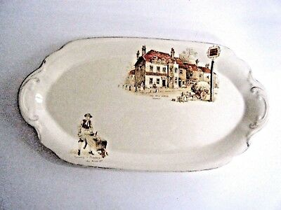 J & G Meakin Sunshine Oval Relish Dish Plate The Old Pack Horse Made In England