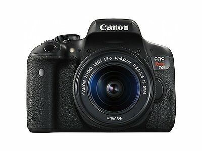 Canon EOS Rebel T6i Digital SLR with EF-S 18-55mm lens, Wi-Fi enabled - 0591C003