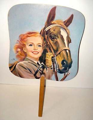 """Vintage Cardboard Hand Fan EAST END SUPER MARKET """"It's Up to You"""" very good cond"""