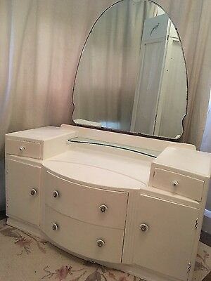 Beautiful Vintage White Shabby Chic Dressing Table