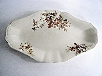 J & G Meakin Sunshine Oval Relish Dish Plate Floral Pattern Made In England