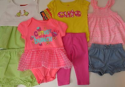 LOT Baby Girls Size 3-6 6 Months Spring Summer Clothes Outfits