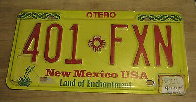 2004 New Mexico License Plate Expired 401 Fxn