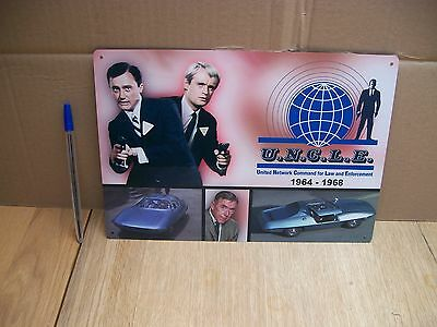 MAN FROM UNCLE - METAL POSTER,, PIRANHA SPY CAR,, TIN SIGN classic TV car sign