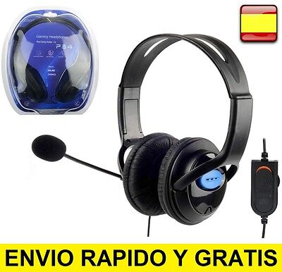 Cascos auriculares con microfono para playstation4, ps4, pc Ordenador Gaming CAB