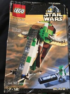 Lego Star Wars Boba Fett's Slave 1 7144 Complete Set with Box & Instructions