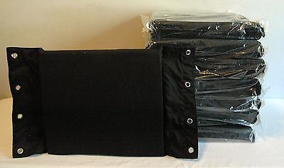 PRO WRESTLING TURNBUCKLE PADS Set of 12 BLACK Ring gear Accessories wwe tna  show