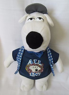 "Family Guy TM Brian Griffin 2006 All In Poker Plush Medium 15"" Tall"