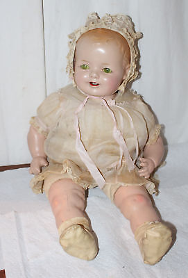 "21"" Horsman Composition Baby Doll Original Tagged Outfit Outstanding Condition"