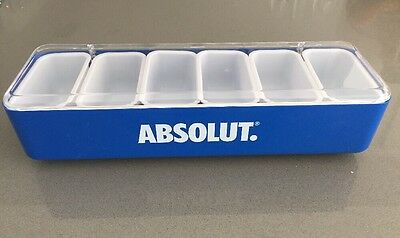 Absolut Vodka Plastic Bar Condiment , Fruits w/ 6 Cups Advertising