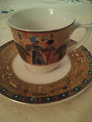 EGYPTIAN  Fathi MAHMOUD  cup and saucer