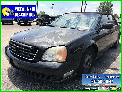 2001 Cadillac DeVille DHS Used 01 Cadillac DeVille DHS 4.6L V8 Auto FWD Black On Black Leather No Reserve