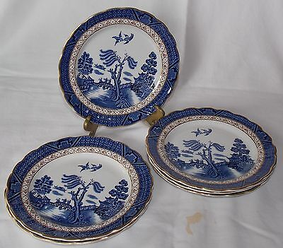 """Booths Real Old Willow 6 3/4"""" Side Plate X 6   A 8025"""