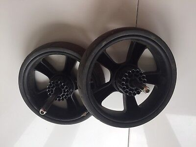 iCandy Strawberry 2 Pair Of Rear Back Wheels Black FREE POST