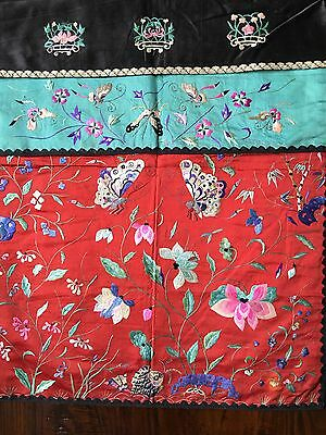 19th Cent Chinese Embroidery Mirror Cover