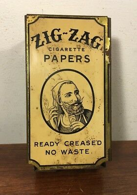 Vintage Zig Zag Rolling Papers Tin Wall Dispenser