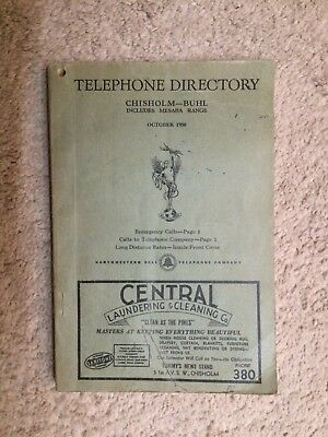 1950 Minnesota Telephone Book & Business Directory- Chisholm Buhl Mesaba - Ads
