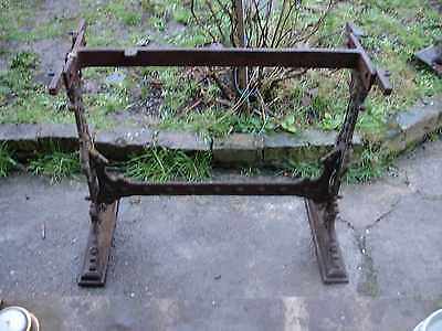 Victorian Cast Iron Table Legs Base LOVELY ORIGINAL FEATURE
