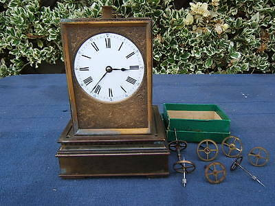 Large Repeating French Carriage Clock For Restoration
