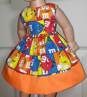 Doll Clothes/Handmade/18 Inches/American Girl Dolls/M&M'S Dress.
