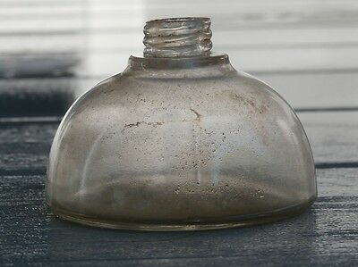 Antique Victorian Period Glass Oil Lamp Base with ground lip