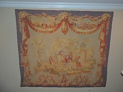 Aubusson Style Tapestry Wall Hanging or Rug