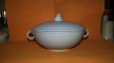 Vintage Lu-Ray Pastels Blue Covered Casserole Dish