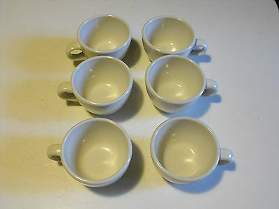 Set of 6 Vintage  BUFFALO CHINA Restaurant Ware Diner Style COFFEE CUP White