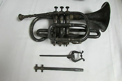 Antique Superior Henry Distin #1352 Cornet Trumpet circa 1883 Philadelphia LOOK!