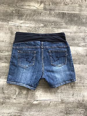 American Star Maternity Jean Shorts Size Large Draw String Factory Fade