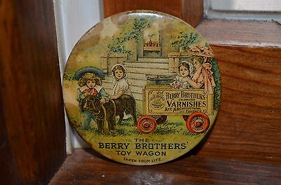 Antique Celluloid Advertising Berry Brothers Varnish Pocket Mirror