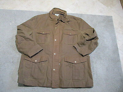 VINTAGE Brooks Brothers Waxed Cotton Jacket Adult Extra Large Millerain Coat Men