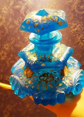 ANTIQUE FRENCH OPALINE GLASS Perfume Botlle,Persian Market.Must SEE!