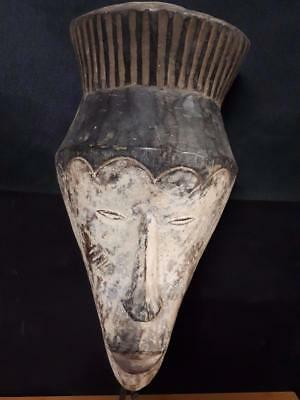 Old African Tribal Fang terracotta Mask Gabon Africa. ........Fest-gb