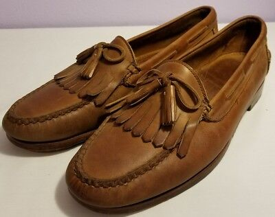 COLE HAAN SHOES MEN PENNY LOAFERS Lace & WING TIP Size 12D Dress Slip On Shoe
