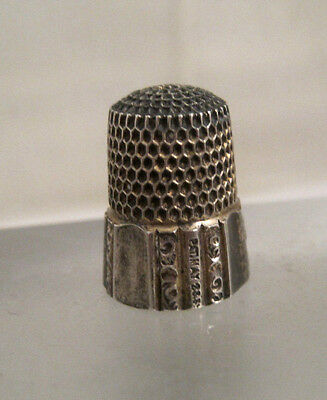 ANTIQUE Vintage STERLING SILVER THIMBLE #6 SIMONS BROTHERS 1889 PATENT