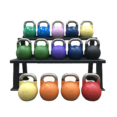 Stainless Steel Handle Competition Kettlebell, Pro Grade, Tough Paint