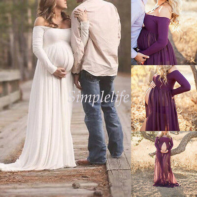 Pregnant Women Lace Maternity Dress Gown Photography Photo Shoot Clothes New