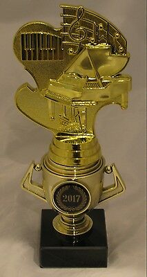 Piano Music Notes Trophy on Mini Gold Cup 190mm Engraved FREE