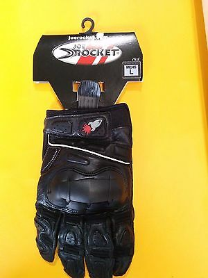 ** Brand New Supermoto Joe Rocket Motorcycle Gloves - Black ***