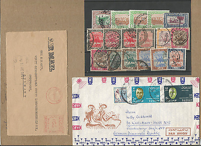 British-Egypt Africa-Khartum Ph,fine Lot Of 4 Commercial Covers+Stamps