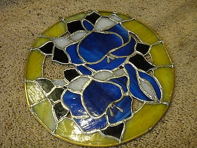 Stained Glass Wall Hanging, Window Hanging, approx 12''-14'' wide