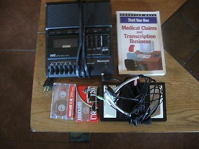 Panasonic RR-830 Cassette Dictation Recorder with extras-FREE SHIP