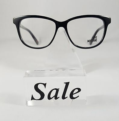 b8751ebcb2f0 NEW LOVE MOSCHINO Tortoise Grey Eyeglasses Rx Glasses ML081V02 53-15 ...
