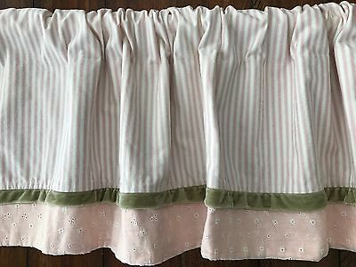 Lot of 2 valances baby kids shabby chic style Wendy Bellissimo vintage teaberry