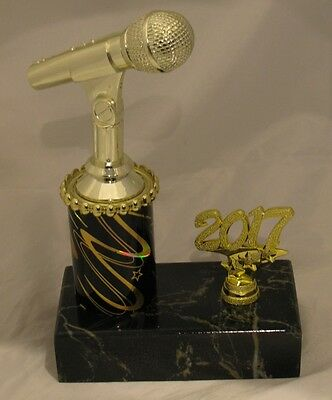 Microphone Music Singing Trophy 190mm with Year ENGRAVED FREE